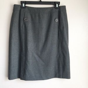 Talbots A-line Wool Skirt Size 14 Gray Career
